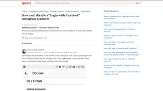 How to disable a 'Login with Facebook' Instagram account - Quora
