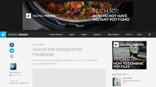 How to Link Instagram to Facebook | Digital Trends