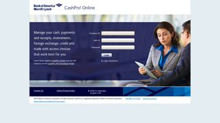 Welcome to CashPro Online - Bank of America