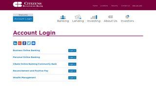 Account Login - Citizens Business Bank