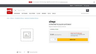 CITRIX NETSCALER GATEWAY - 4048839 - Virtualization ... - CDW.com