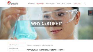 ApplicationStation - Certiphi
