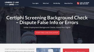 Certiphi Screening Background Check – Dispute False Info or Errors