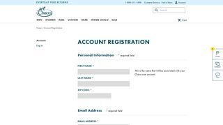 Chacos | Chacos Account Registration