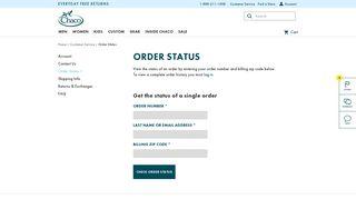 Order Status | Chaco