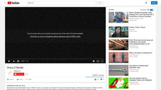 Chaco Z Sandal - YouTube