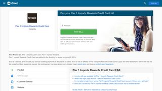 Pier 1 Imports Rewards Credit Card: Login, Bill Pay, Customer Service ...