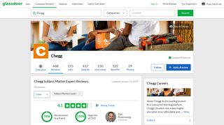 Chegg Subject Matter Expert Reviews | Glassdoor