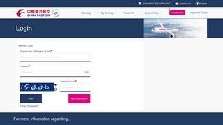 Login - China Eastern Airlines