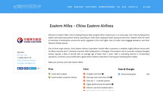 Eastern Miles - China Eastern Airlines Frequent Flyer Program Review ...
