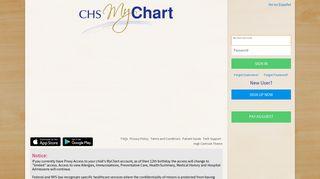 MyChart - Login Page - CHS MyChart - Catholic Health Services of ...