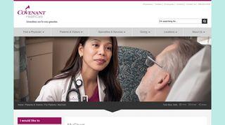 MyChart | Covenant HealthCare