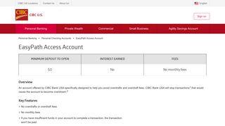 EasyPath Access Account | CIBC US - CIBC Bank USA