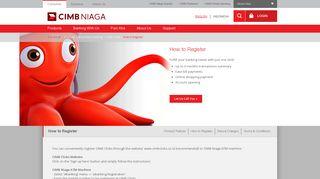 How to Register - Bank CIMB Niaga