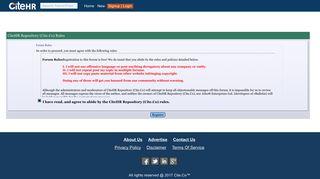 CiteHR Repository (Cite.Co) - Forum Rules