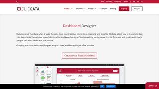 Free Dashboard Designer Software | ClicData