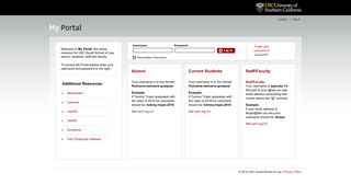 MyLaw Portal Community Login - USC Gould School of Law