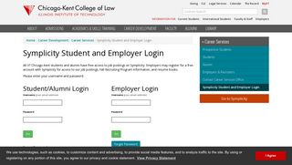 Symplicity Student and Employer Login | Chicago-Kent College of Law