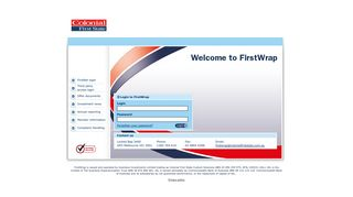 Colonial First State: FirstWrap Login