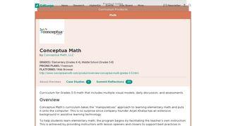 Conceptua Math | Product Reviews | EdSurge