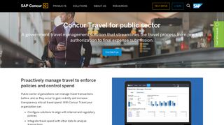 Government Travel Booking and Travel Management - SAP Concur