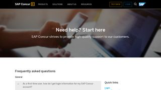 SAP Concur FAQ's and Support Contact - SAP Concur