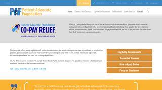 Co-Pay Relief Program   Patient Advocate Foundation