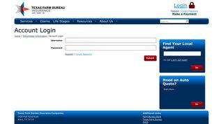 Account Login | Texas Farm Bureau Insurance