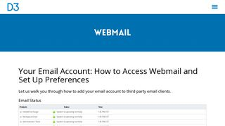 Webmail | Digital Marketing Agency D3 - Social Media, Email Marketing