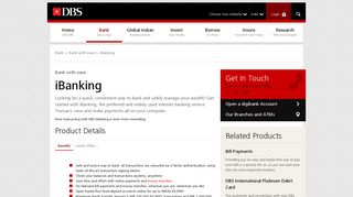 Internet Banking Services | iBanking by DBS Bank India