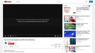 How to Activate digibank by DBS Internet Banking - YouTube