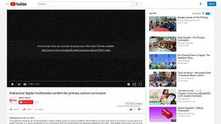 Interactive digital multimedia content for primary school curriculum ...