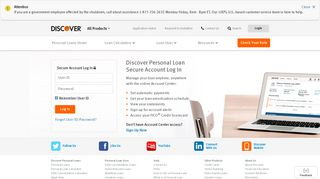 Personal Loans - Secure Account Login | Discover