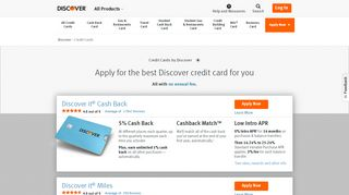 Apply for Credit Cards | Credit Card Options & Applications | Discover