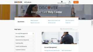 Credit Card Help Center | Discover