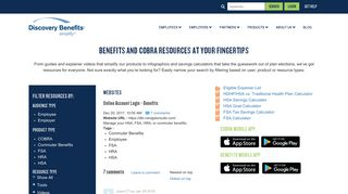 Online Account Login - Benefits - Discovery Benefits