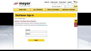 Distributor Sign In   Meyer