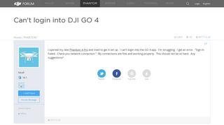 Can't login into DJI GO 4 | DJI FORUM