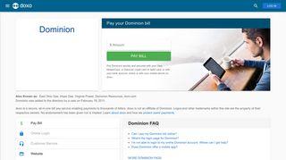 Dominion: Login, Bill Pay, Customer Service and Care Sign-In - Doxo