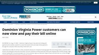 Dominion Virginia Power customers can now view and pay their bill ...
