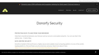 Security — Donorfy - Fundraising CRM