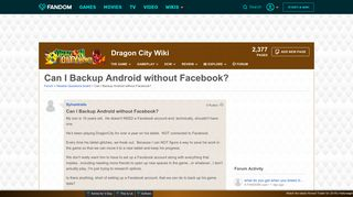 Can I Backup Android without Facebook? | Dragon City Wiki | FANDOM ...