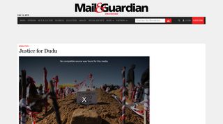 Multimedia Video: Justice for Dudu - Mail & Guardian