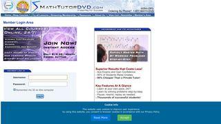 Member Login Area - Math Tutor DVD