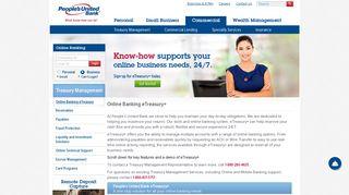 Online Banking eTreasury+ - People's United Bank
