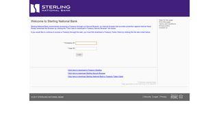 Sterling National Bank e-Treasury