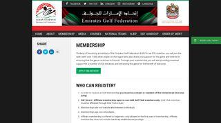 Membership Information - Emirates Golf Federation