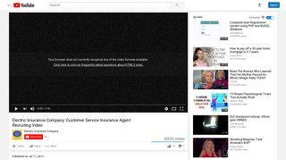 Electric Insurance Company: Customer Service Insurance Agent ...