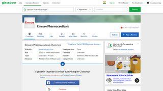 Working at Emcure Pharmaceuticals   Glassdoor.co.in