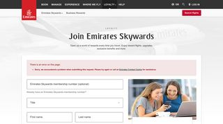 Join Emirates Skywards | Emirates United Kingdom